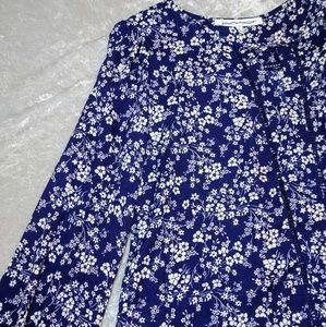 Stitch fix cute blue/white top